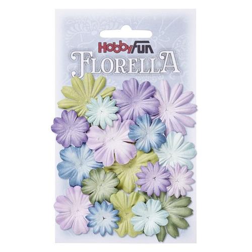 FLORELLA Bloemen uit moerbijpapier, mix IV, ca. 20 st 2 - 4 cm