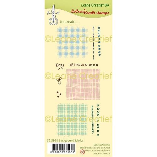 LeCreaDesign® clear stamp Stof - Textiel achtergrond