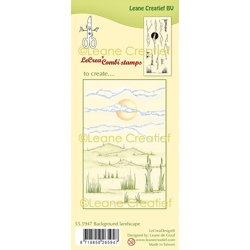 LeCreaDesign® clear stamp Landschap achtergrond