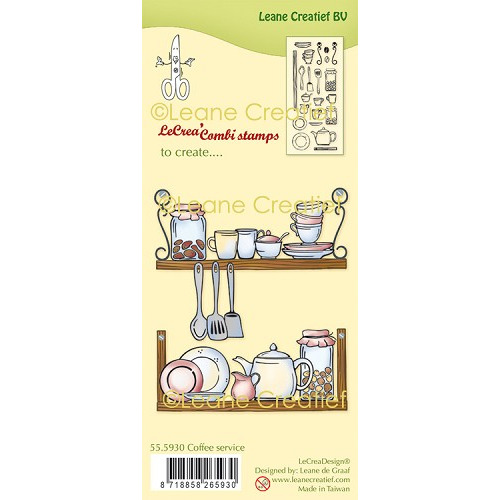 LeCreaDesign® combi clear stamp Koffie