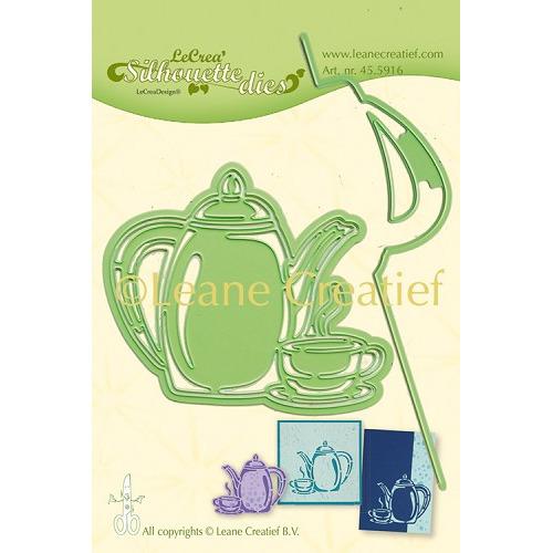 Leabilitie® Koffietijd silhouette snij en embossing mal