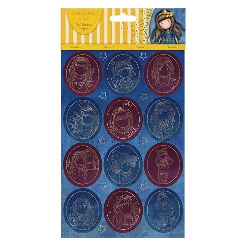 Foiled Stickers (20pcs) - Santoro