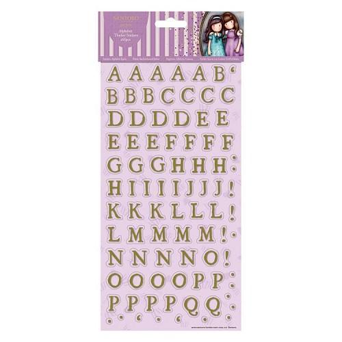 Alphabet Thicker Stickers (166pcs) - Santoro