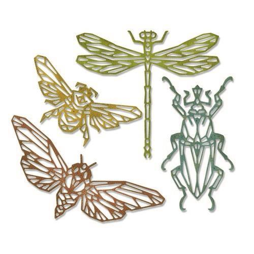 Sizzix Thinlits Die Set - 4PK Geo Insects 664180 Tim Holtz (04-19)