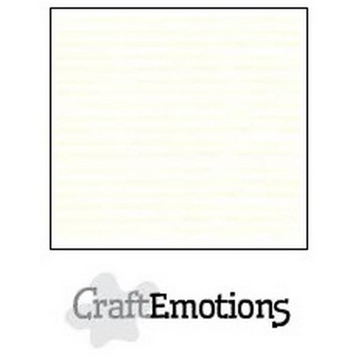 CraftEmotions karton gladkarton 100 vel gebroken wit 30,0x30,0cm 250gr / SC-04