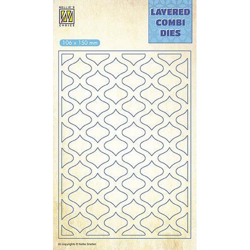 Nellie's Choice Layered Combi Die ovaal pasen laag A LCDE001 106x150mm (03-19)