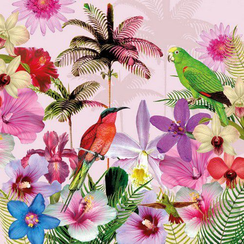 CraftEmotions servetten 5st - Tropical 33x33cm Ambiente 13309040 (04-19)