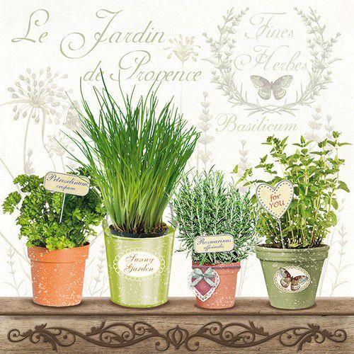 CraftEmotions servetten 5st - Le Jardin de Provence 33x33cm Ambiente 13309790 (04-19)