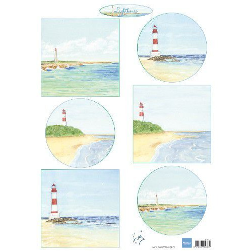 Marianne D Decoupage Tiny`s vuurtorens IT611A4  (05-19)