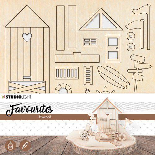 Studio Light Plywood Favourites Wooden Beach House nr.05 PWSL05 (04-19)
