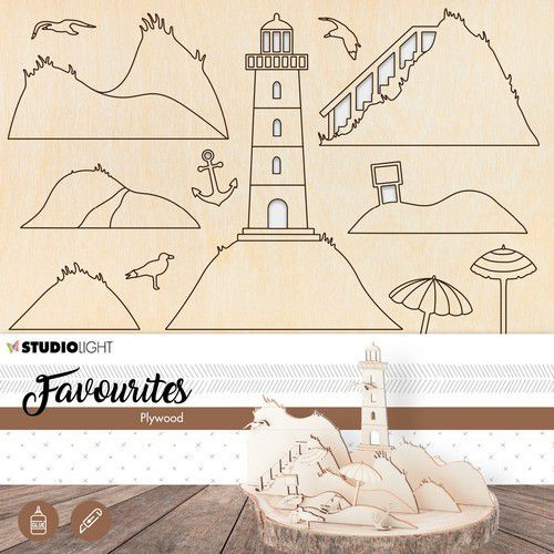 Studio Light Plywood Favourites Wooden Lighthouse nr.06 PWSL06 (04-19)