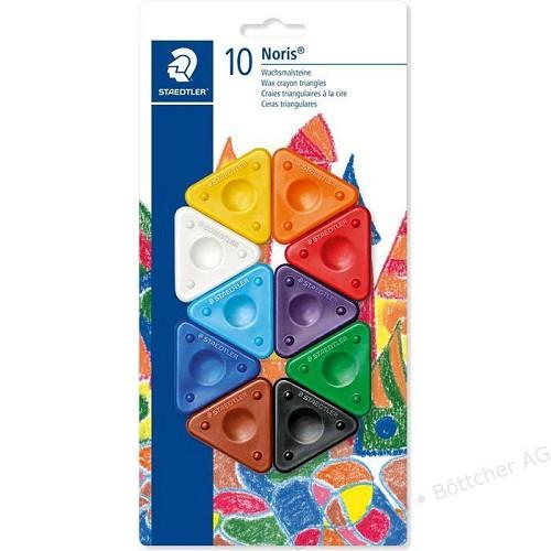 Noris Club krijt driehoeksvorm - blister 10 st