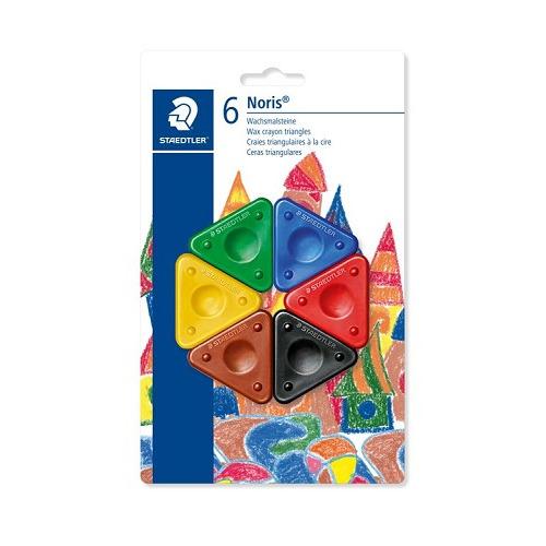 Noris Club krijt driehoeksvorm - blister 6 st