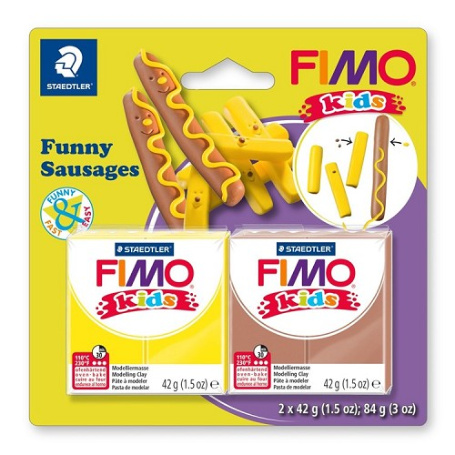 "Fimo kids funny kits set ""funny sausages"""