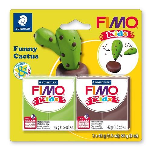 "Fimo kids funny kits set ""funny cactus"""
