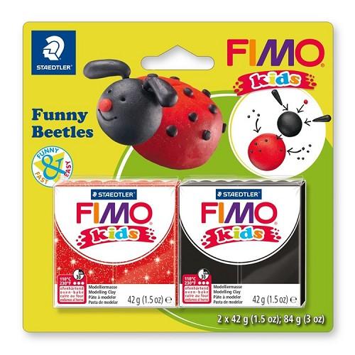 "Fimo kids funny kits set ""funny beetles"""