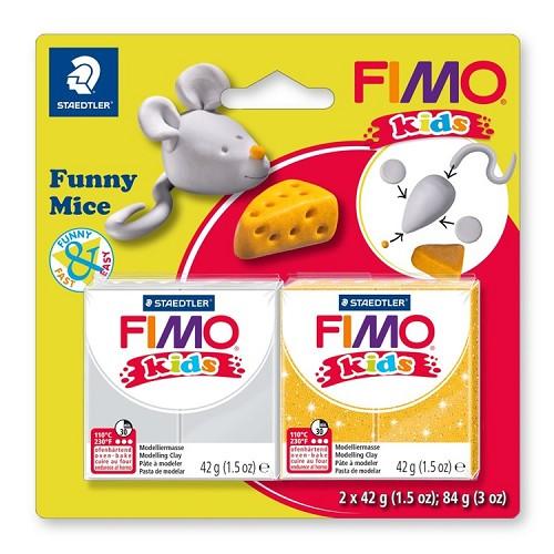 "Fimo kids funny kits set ""funny mice"""