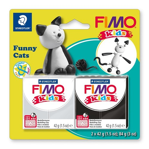 "Fimo kids funny kits set ""funny cats"""