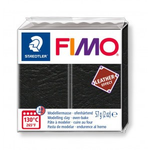 Fimo leather-effect 57 g zwart
