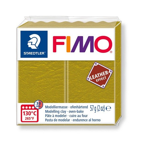 Fimo leather-effect 57 g olijf
