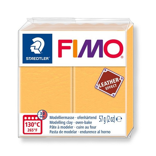 Fimo leather-effect 57 g saffraan geel
