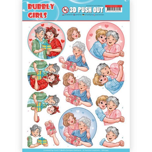 3D Pushout - Yvonne Creations- Bubbly Girls - Mothersday