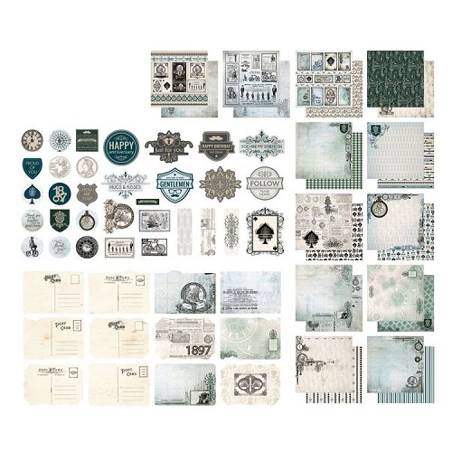 Paper Pad - Gentleman's Emporium Collection - Stickers, Postcards and Papers