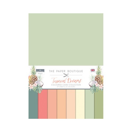 The Paper Boutique Tropical Dreams Colour Card Collection