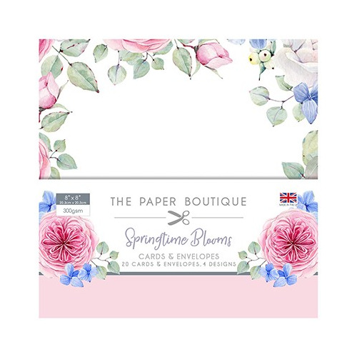 The Paper Boutique Springtime Blooms Card & Envelope Pack