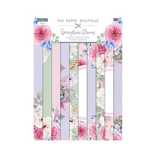 The Paper Boutique Springtime Blooms Insert Collection