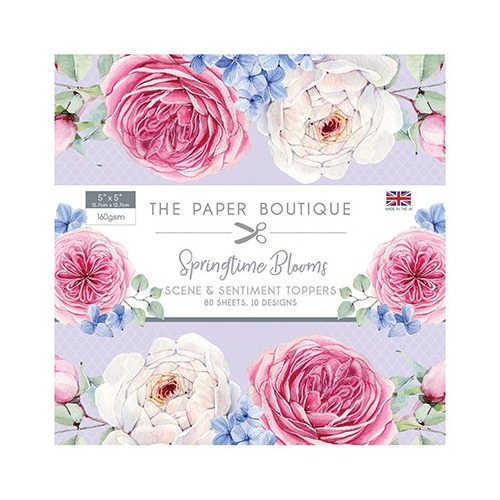The Paper Boutique Springtime Blooms Sentiments Pad