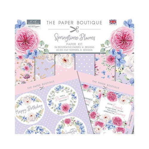 The Paper Boutique Springtime Blooms Paper Kit