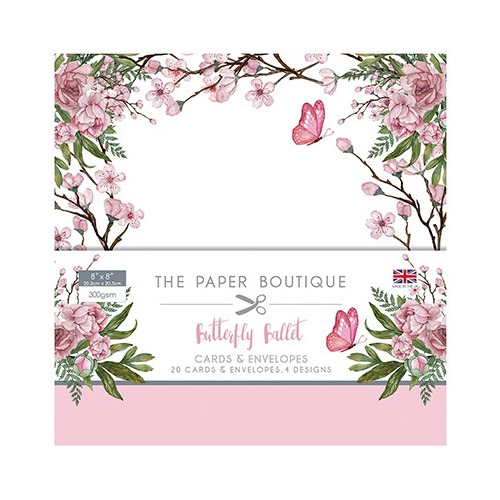 The Paper Boutique Butterfly Ballet Card & Envelope Pack