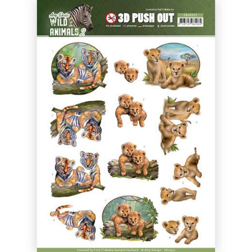 3D Pushout - Amy Design - Wild Animals 2 - Twins