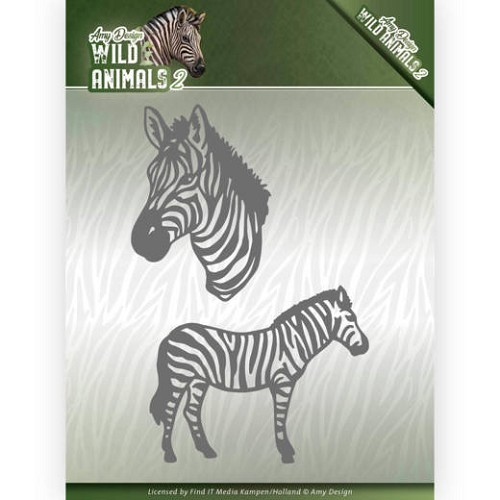 Dies - Amy Design - Wild Animals 2 - Zebra