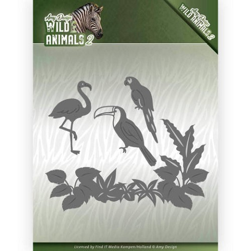 Dies - Amy Design - Wild Animals 2 - Tropical Birds