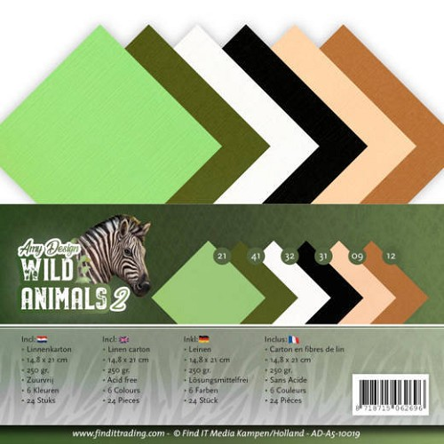 Linnenpakket - A5 - Amy Design - Wild Animals 2