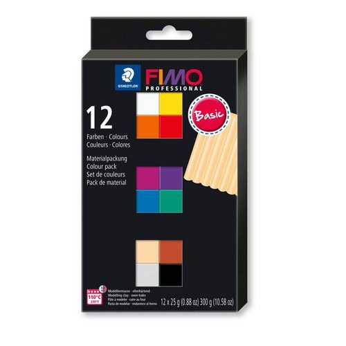 Fimo Professional colour pack 12 basis kleuren 8043 C12-1 / 12x25gr (04-19)