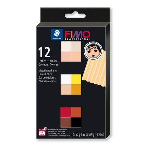 Fimo professional Doll art colour pack 12 st 8073 C12-1  / 12x25gr (04-19)