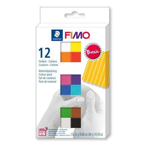 Fimo soft colour pack 12 basic colours 8023 C12-1  / 12x25gr (04-19)