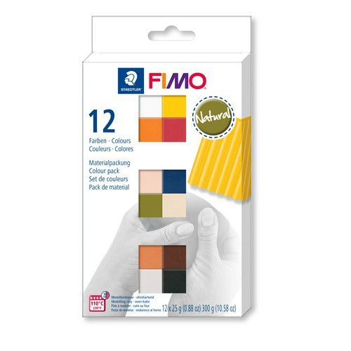 Fimo soft colour pack 12 natural colours 8023 C12-4  / 12x25gr (04-19)