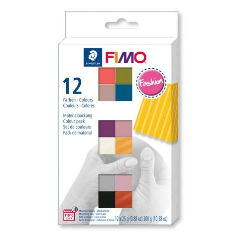 Fimo soft colour pack 12 fashion colours 8023 C12-5  / 12x25gr (04-19)
