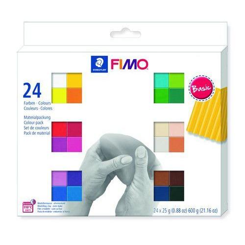 Fimo soft colour pack 24 basic colours 8023 C24-1  / 24x25gr (04-19)