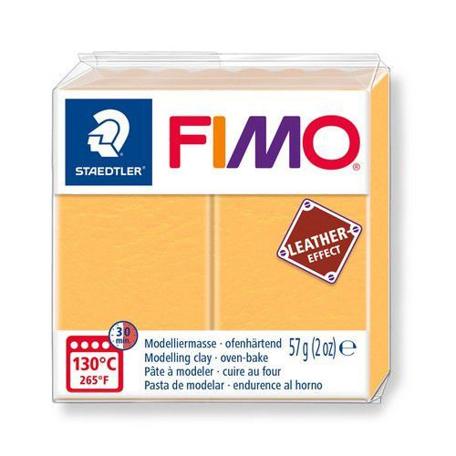 Fimo Effect leather 57 g saffraan geel 8010-109 (04-19)