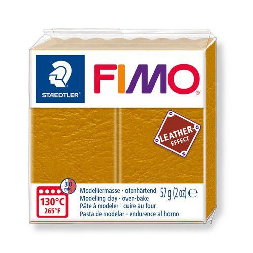 Fimo Effect leather 57 g oker 8010-179 (04-19)