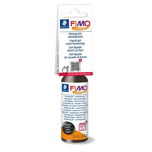 Fimo liquid deko gel 50 ML zwart 8050-9 (04-19)