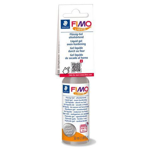 Fimo liquid deko gel 50 ML zilver 8050-81 (04-19)