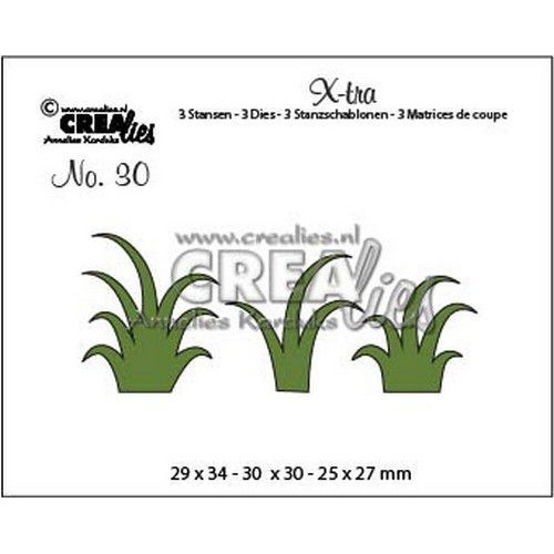 Crealies X-tra no. 30 gras CLXtra30 29 x 34 - 30 x 30 - 25 x 27mm (04-19)
