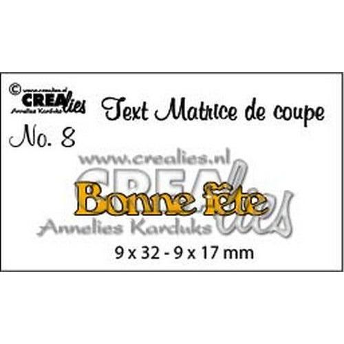 Crealies Tekststans (FR) nr 8 Bonne fete CLTM08 9 x 32 - 9 x 17mm (04-19)