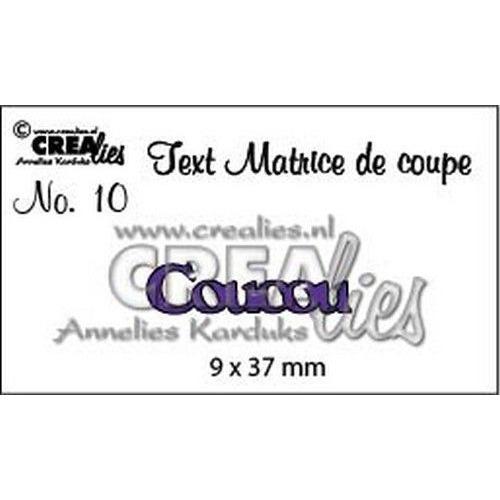 Crealies Tekststans (FR) nr 10 Coucou CLTM10 9 x 37mm (04-19)